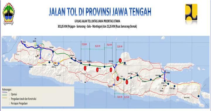 Jalan Tol Di Provinsi Jawa Tengah 6 Ruas Jalan Tol Lintas Jawa Prioritas Utama Biro Infrastruktur Dan Sumber Daya Alam